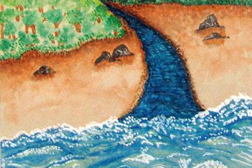 Ría fluyendo al mar
