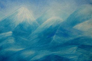 Montañas con nieve perpetua