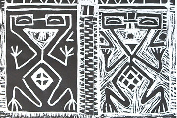 Hombre y mujer precolombinos