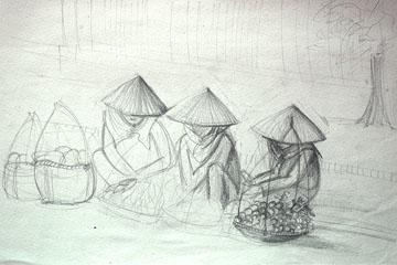 Vendedoras en Vietnam