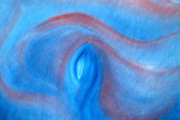 Movimiento de azul y rojo